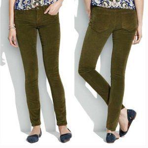 - Madewell dark green straight leg corduroys